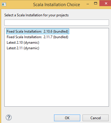 scala installation choice