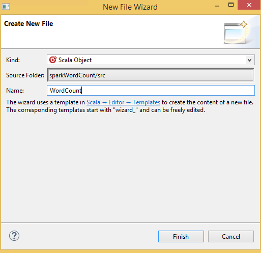 create new file wizard